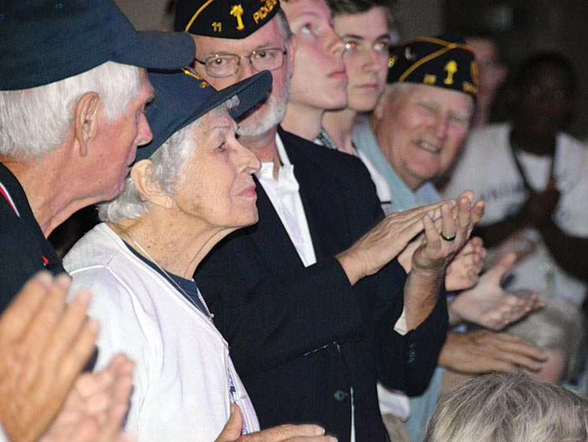 Fay Kennedy a WWII Navy Ensign Nurse from Seneca American Legion Post 120 was recognized  by fellow-Legionnaires at Palmetto Boys' State Patriotic Program Sunday night in Henderson Auditorium at Anderson University.