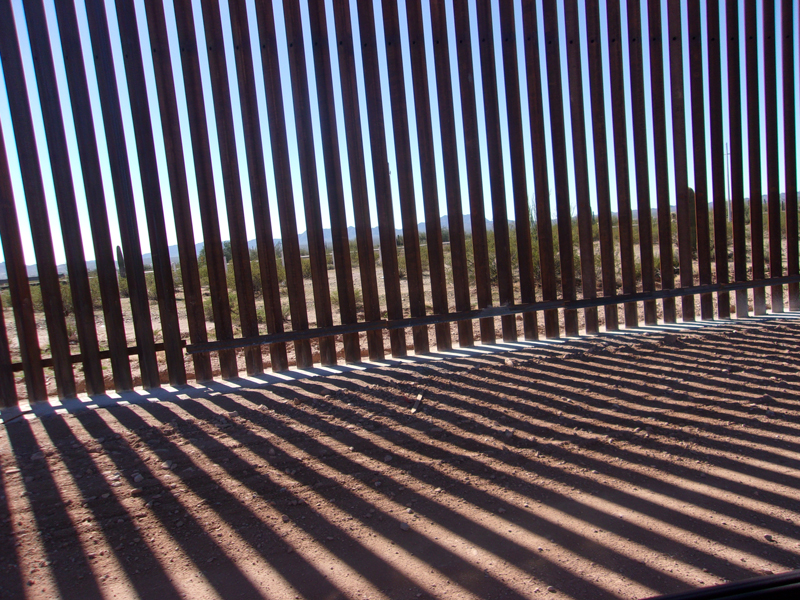 A section of the Border Wall at Lukeville, Arizona