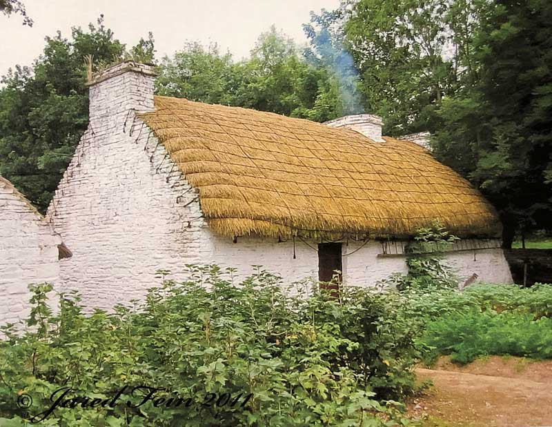 A Thactched Roof Cottage in Croatia, similar to the one in which my grandmother Kata was borA Thatched Roof Cottage in Croatia, similar to the one in which my grandmother Kata was born in 1884.n in 1884.