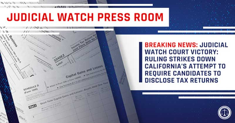 Judicial Watch Breaking News 2019