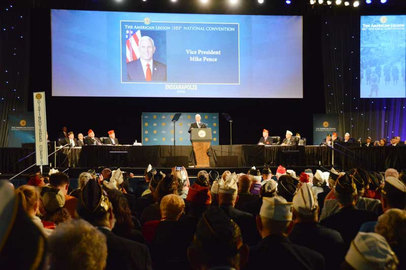 Vice President Mike Pence spoke to energetic members at the 101st American Legion National Convention.