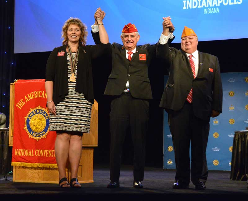 American Legion family elects 2019-20 leaders National Auxiliary President Nicole Clapp, National Legion Commander James