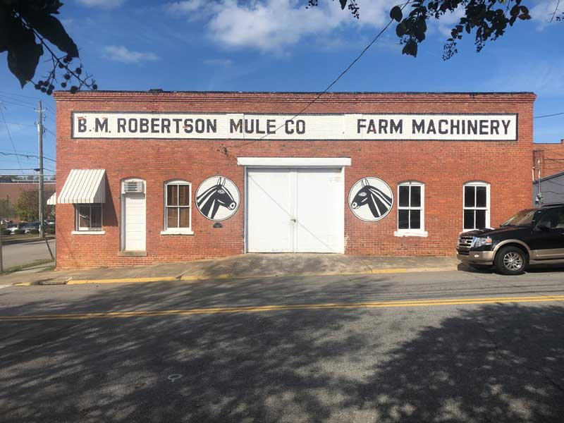 B. M. Robertson Mule Co. Clayton, NC, built in 1914.