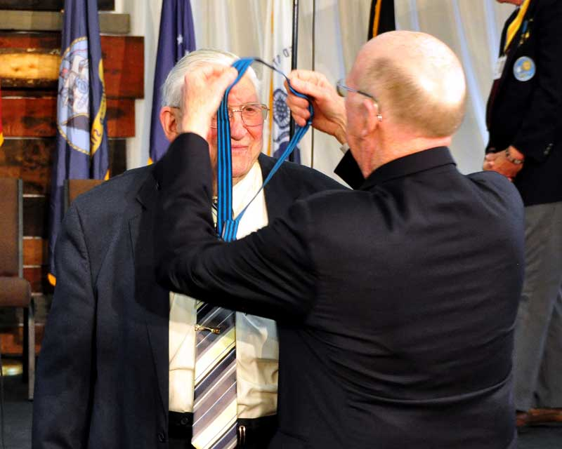 Former Ambassador David Wilkins presents Publisher Bob Dill with the Order of the Palmetto Ribbon. - by Stuart McClure