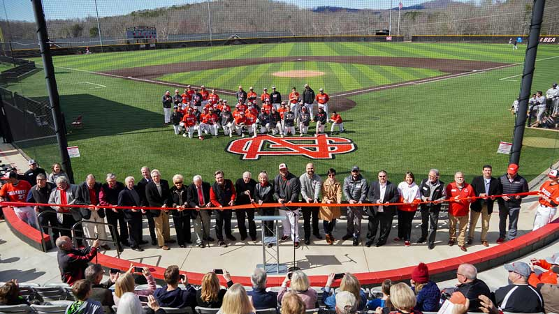 North Greenville University officially opened the George Bomar Family Stadium at Ashmore Park on its Tigerville Campus on Sat., Feb. 29.