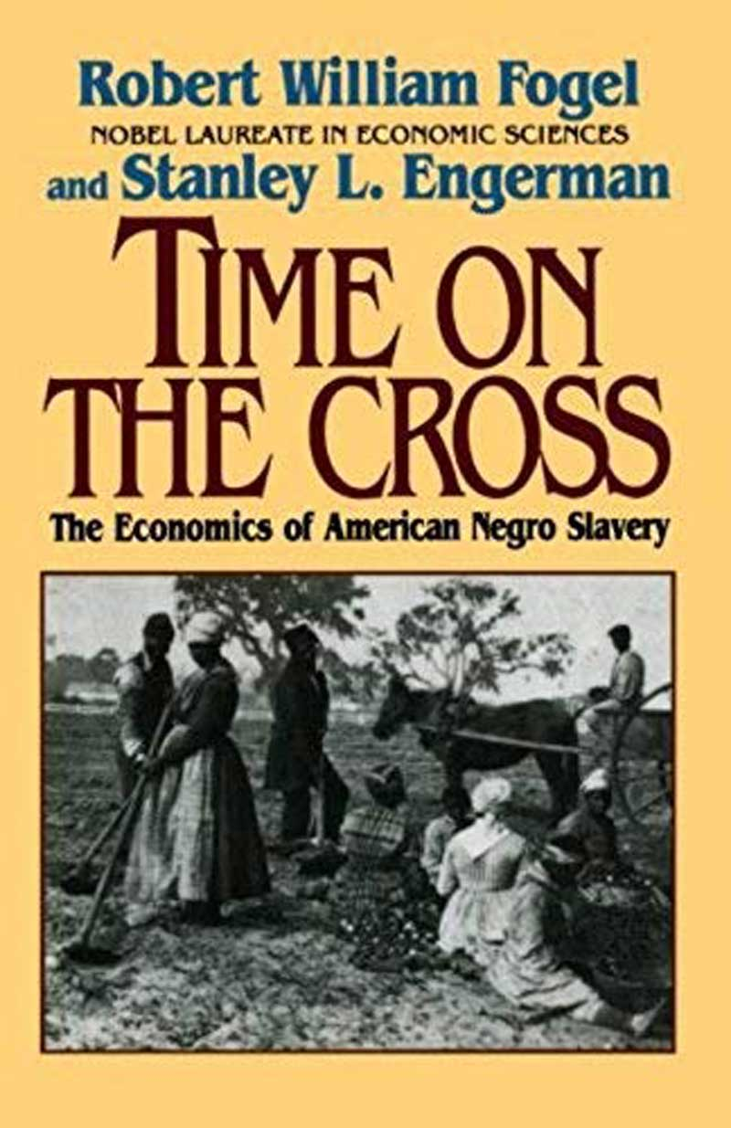The photo is book cover of Time on the Cross and should be sufficient in itself—nothing needs to be added. Source wiki.