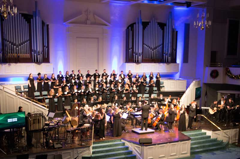"North Greenville University's Cline School of Music to present ""Light in the Darkness: The Ancient Story of Christmas"" at First Presbyterian Church in downtown Greenville on Dec. 5."