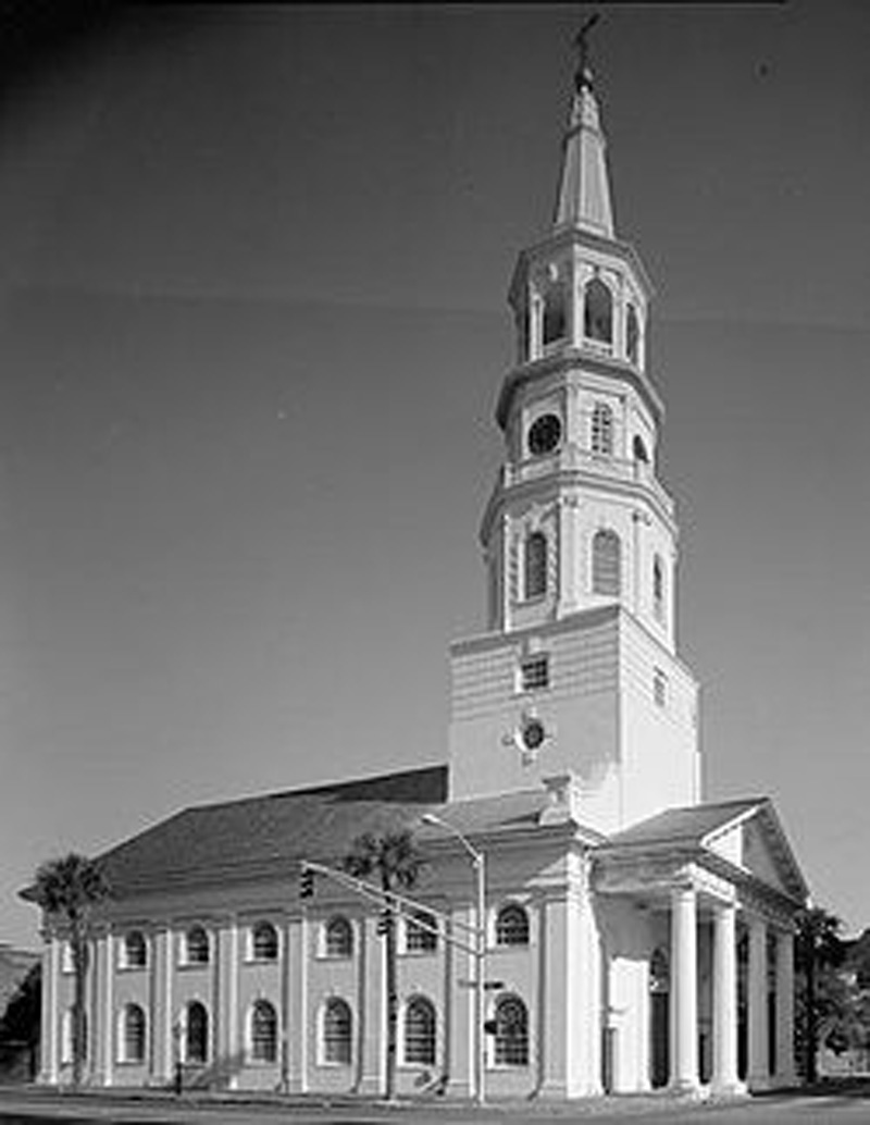 St. Michael's Episcopal Church in Charleston, built 1751-1761. Became St. Michael's Anglican Church in 2017 related to issues  of Biblical authority.