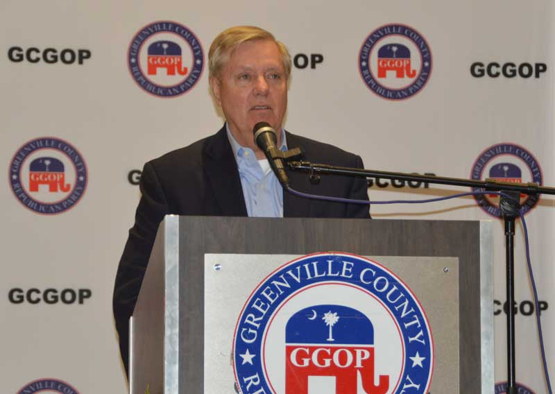 US Sen. Graham praised President Trump's victories on lowering taxes and increasing military funding.