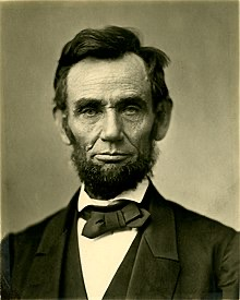 President Abraham Lincoln  elected November 2, 1860. Favored high protective tariffs and corporate subsidies.