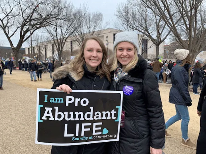 Tabitha Walter & Kirsten Hasler at the annual March for Life 2020