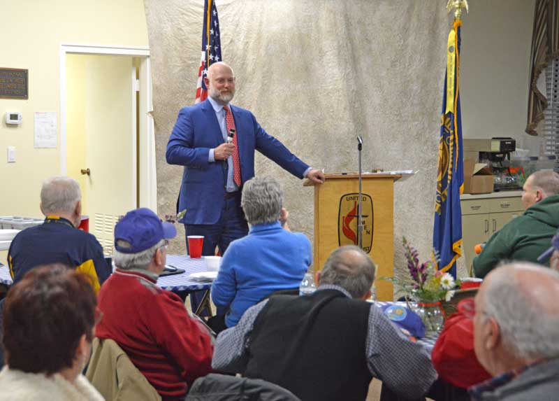 Erik Weir was the guest speaker at this month's meeting of the American Legion Major Rudolf Anderson, Jr. Post 214. Erik is the producer of the film,
