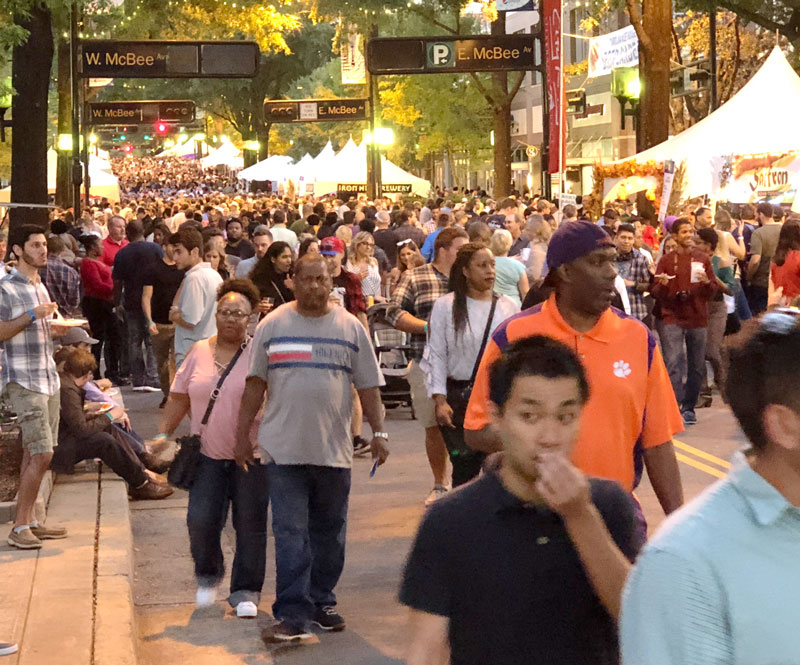 Streets filled with thousands who attended Fall for Greenville 2018.