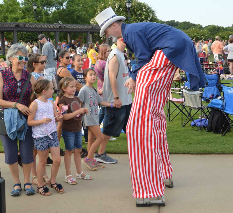 Uncle Sam made an appearance at Freedom Blast in Greer. He entertained adults and children.