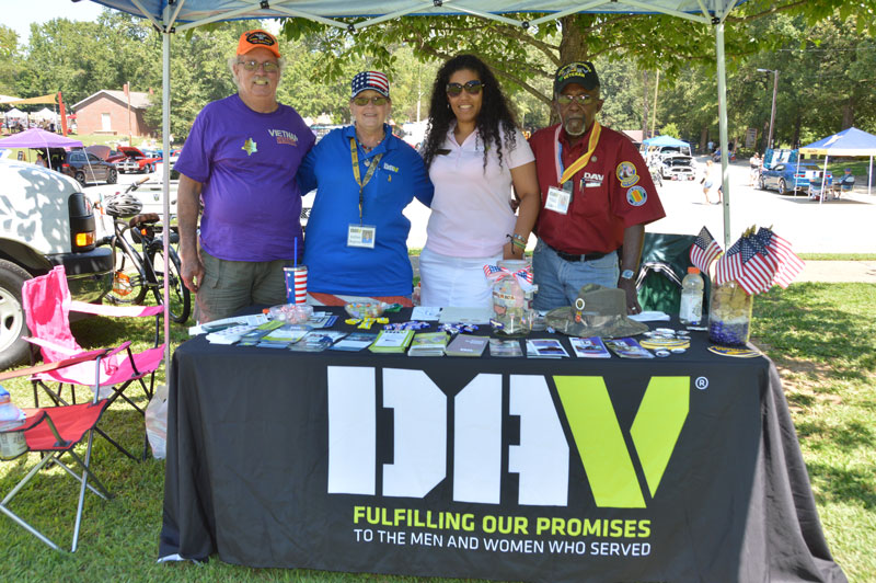 Members of disable American veterans had a table set up at Simpsonville Freedom Fest informing the public how DAV helps our American veterans with benefits they may need and earned.