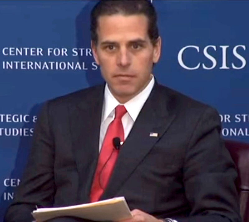 Hunter Biden in 2013, son of VP Joe Biden.
