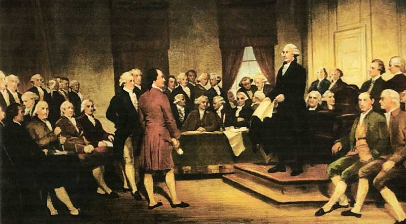 The Constitutional Convention in Philadelphia, Summer of 1787.
