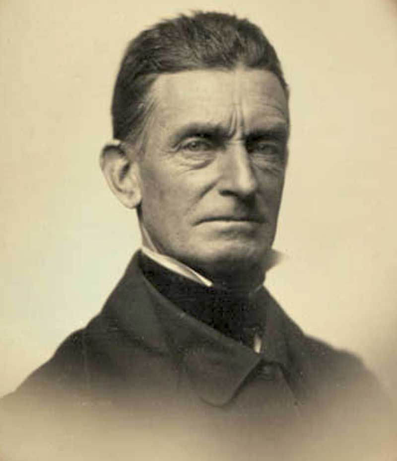 John Brown in 1856, abolitionist terrorist and major factor in sectional division.
