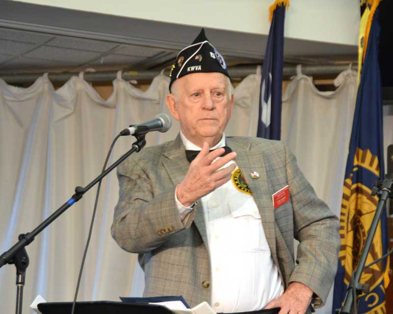 Former South Carolina State Senator and Korean War Veterans Association Past National Director Lewis Vaughn spoke at the Major Rudolf Anderson, Jr. special meeting and ceremony of