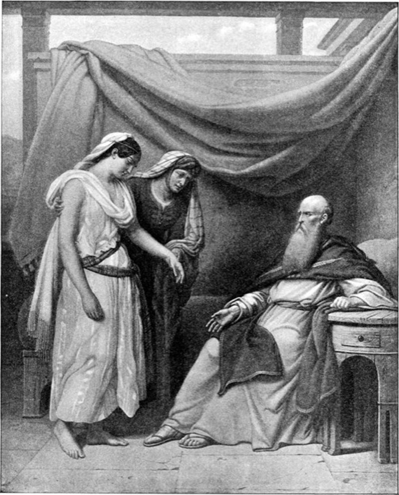Abraham, Sarah, and Egyptian slave Hagar