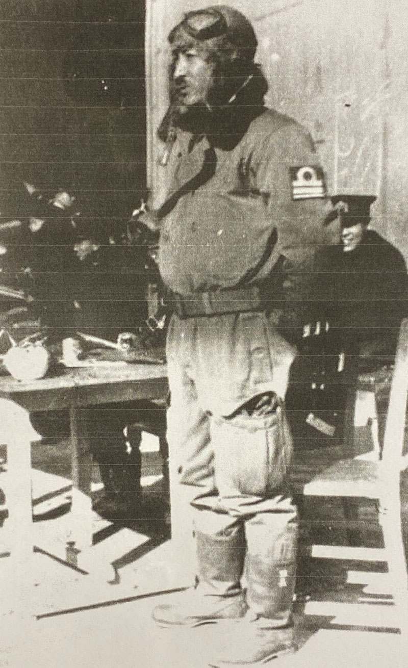Mitsuo Fuchida (1902-1976), Captain in the Imperial Japanese Navy Air Service, who led the first wave of attacks on Pearl Harbor, Hawaii on December 7, 1941. This was taken while he was in training, shorty before the attack.