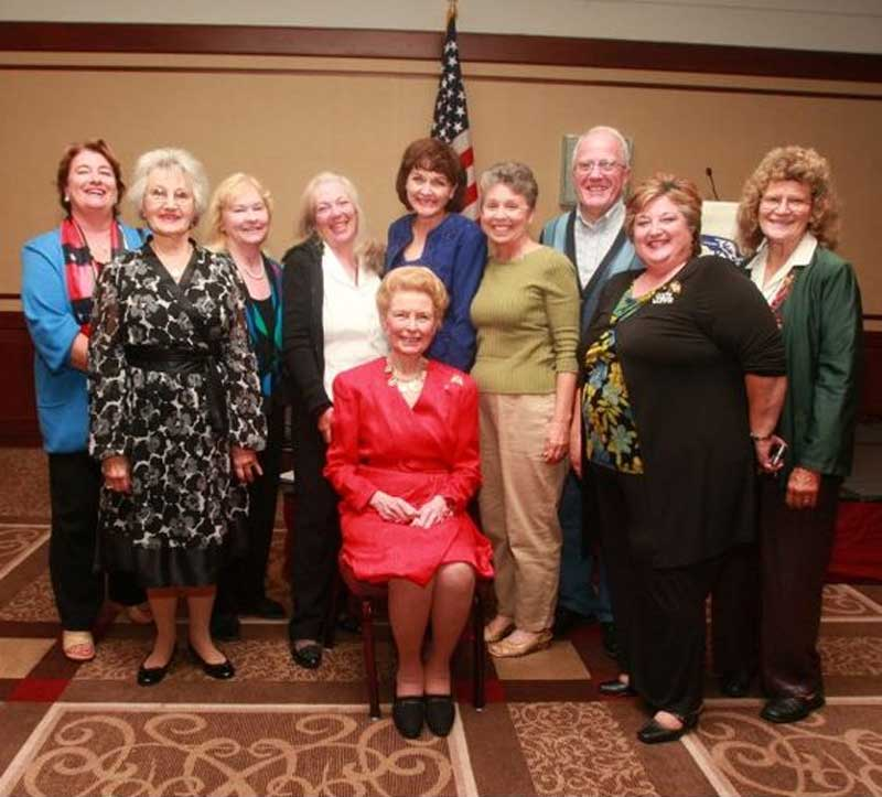 Phyllis Schlafly with California Eagle Forum members.