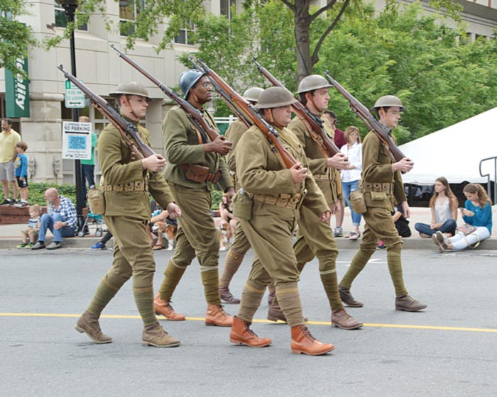 World War I Commemorative Centennial Reenactors in the Greenville Scottish Games Parade. (Photo by Gilbert Scales)
