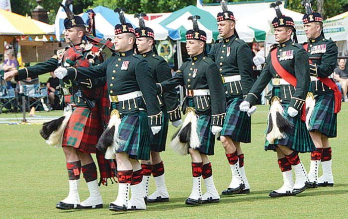 The Royal Highland Fusilliers sponsored by  St. Andrews Society of Upper SC. (Photo by Gilbert Scales)