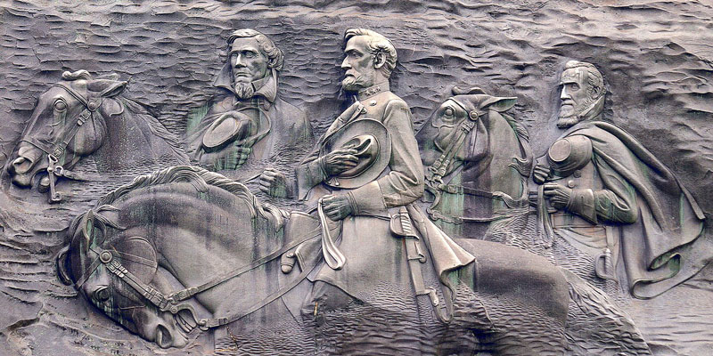 Stone Mountain Georgia, Jefferson Davis, Robert E. Lee and Stonewall Jackson