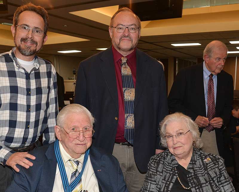 Times Examiner Publisher Bob Dill and wife, LaVerle with The Times Examiner staff Managing Editor James Spurck (at left) and reporter/Travel with Terry Columnist Terry Thacker at right.