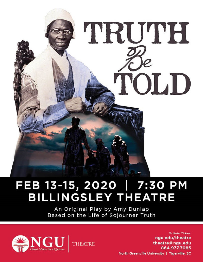 "NGU School of Theatre will present ""Truth be Told"" Feb. 13-15."