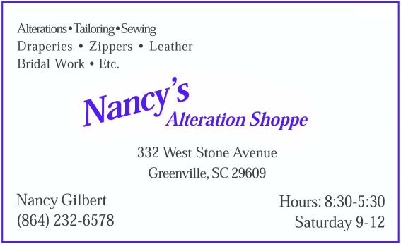 Nancy's Alteration Shoppe