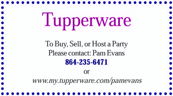 Tupperware - Pam Evans
